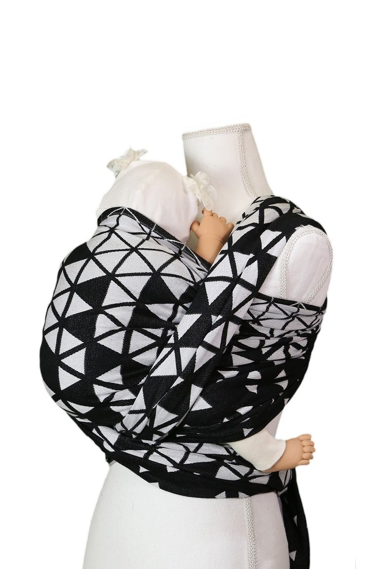 Rebozo Be Lenka Triangel - black and white