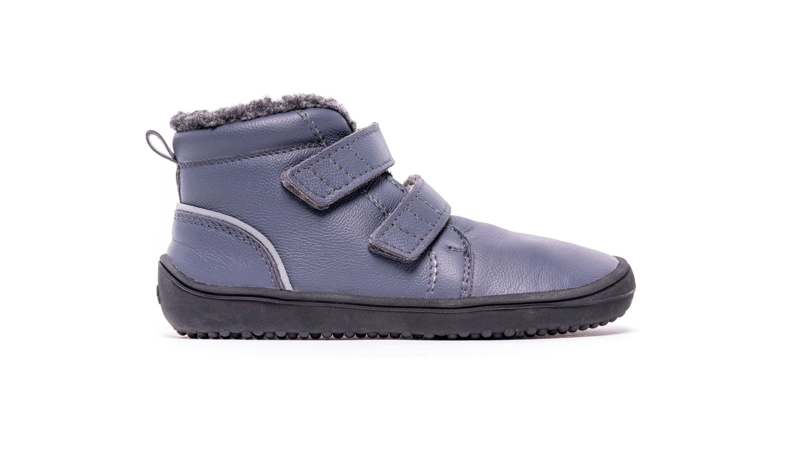 Detské zimné barefoot topánky Be Lenka Penguin - Charcoal 30