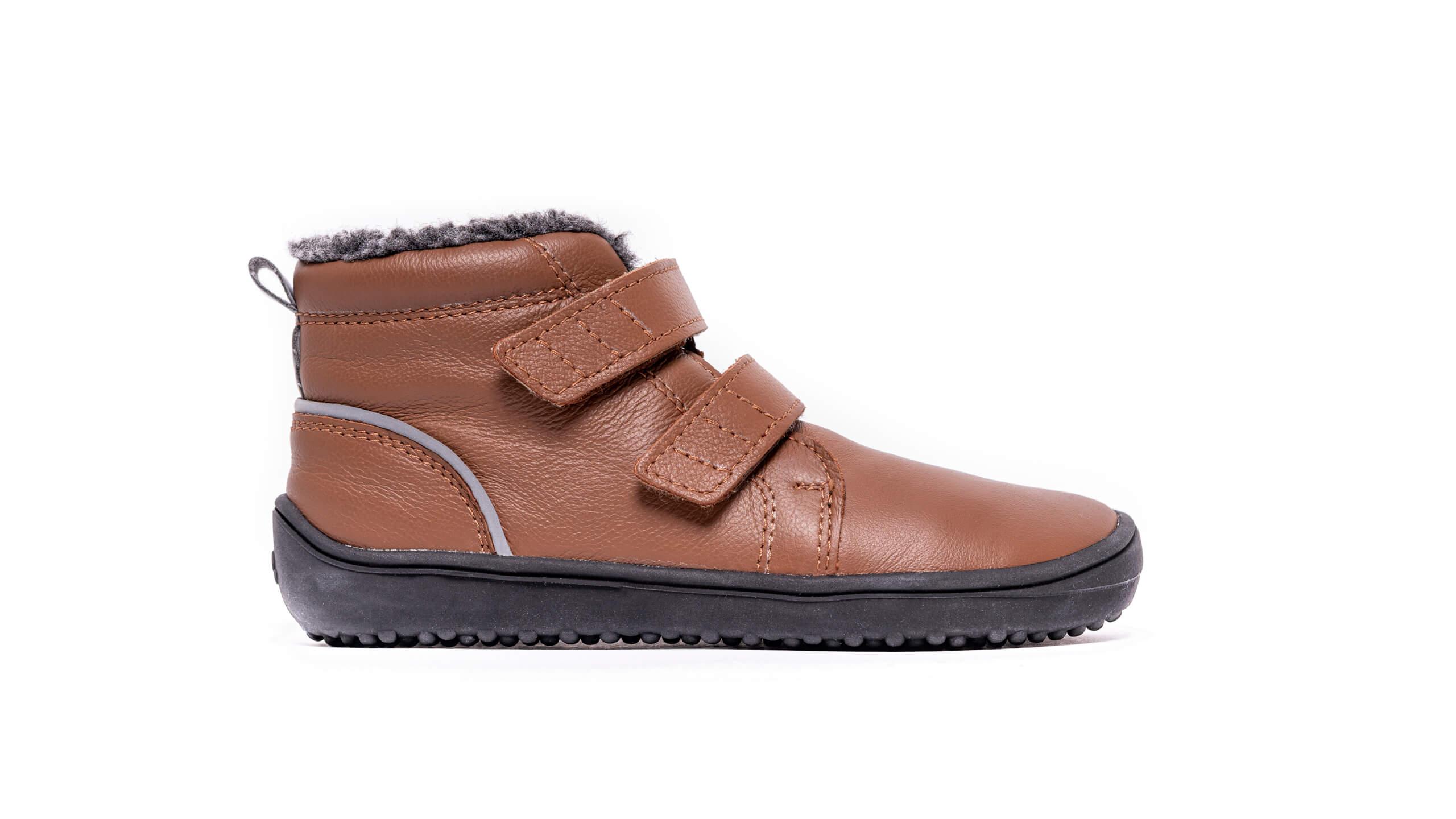 Detské zimné barefoot topánky Be Lenka Penguin - Chocolate 30