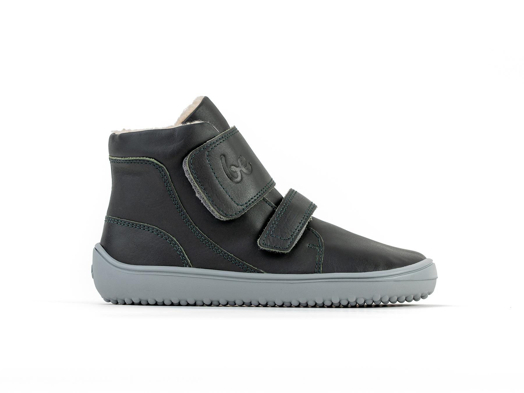 Detské zimné barefoot topánky Be Lenka Panda - Charcoal Black 30