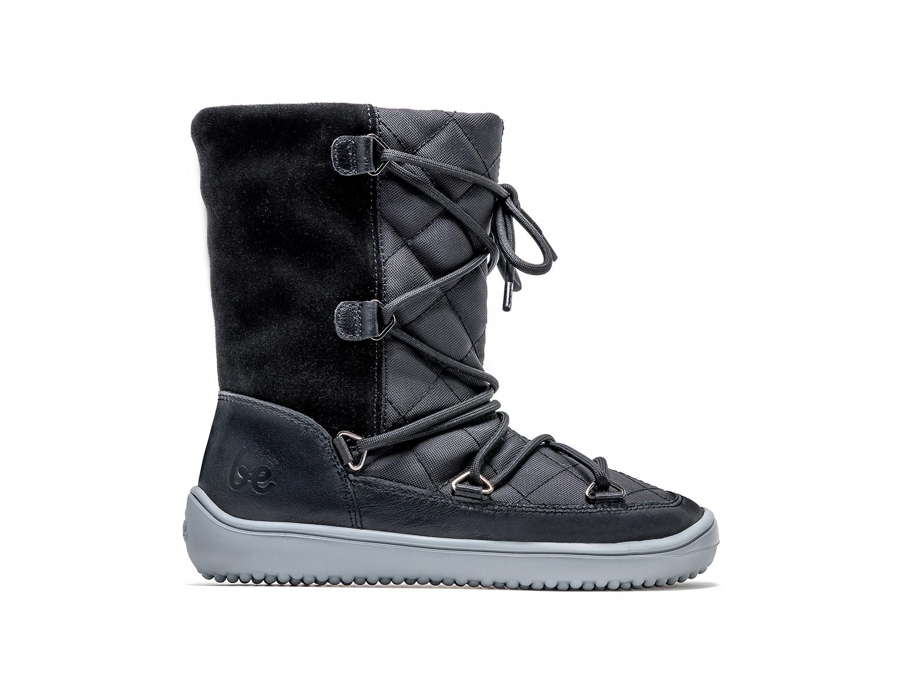 Detské zimné barefoot topánky Be Lenka Snowfox Kids - Black 30